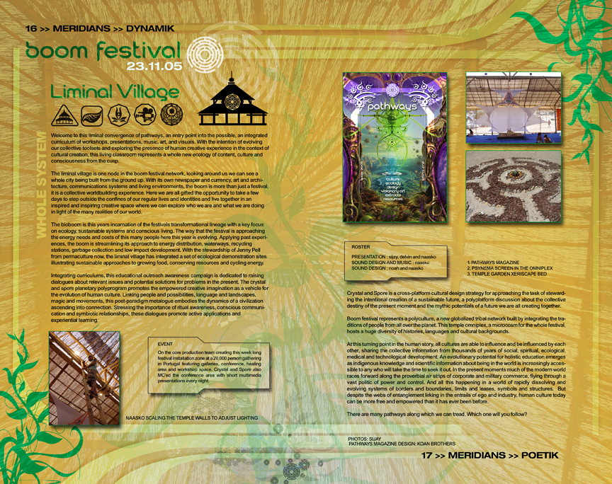 liminal village magazine: crystal and spore 2006
